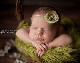 Green Baby Headbands, Baby Headbands, Baby Girl Headbands, Newborn Headbands, Photography Prop