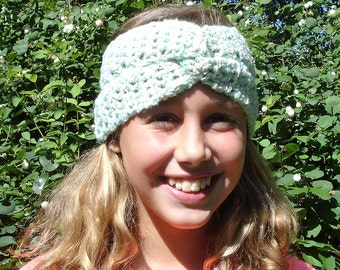 Green bouclé hair Band/hat-size 10/12 years