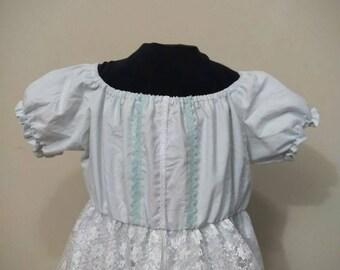 Light blue regency dress, lace overlay dress, lace regency dress, Georgian dress, empire waist dress, Jane Austen costume dress, JASNA dress