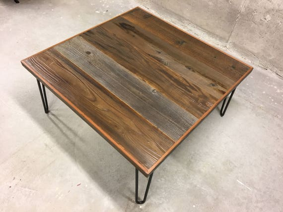 Rustic coffee table with hairpin legs rustic coffee table