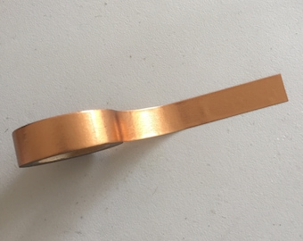Solid Copper Washi Tape, Copper Gold Planner Washi, Metallic Decorative Tape, Gift Wrapping Tape, Scrapbook Supplies, Crafting Tape