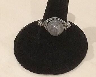 Gray Jasper Ring