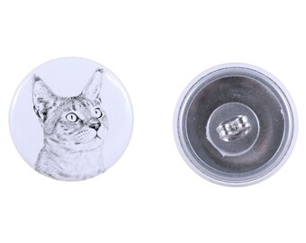 Earrings with a cat -Chausie