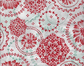 Sugar Berry Daisy Delight Metallic Radiant Crystal Fabric By The Fat Quarter -- FREE SHIPPING