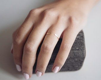 Open Ring | Minimalist | 14K Gold Filled | Stacking Ring | Boho | Adjustable Ring | Gift For Her