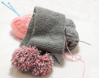 Crochet Baby Scarf with Pom Pom