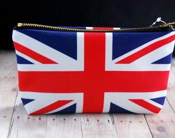 Union Jack Zipper Pouch // Bag, Purse, Pencil Bag, British, UK, Flag