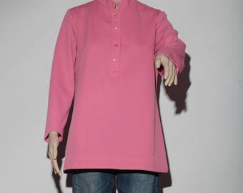 Pink 60's long sleeve top