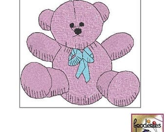 Embroidery file format: polar bear cub