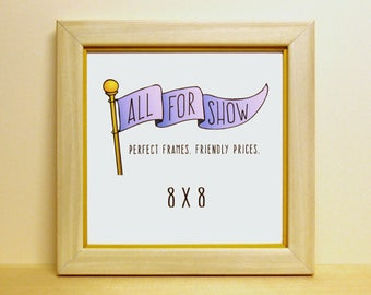 8x8 Picture Frame Blue Green 8x8 Frame Square Frame 8x8