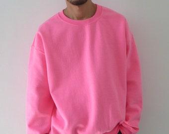 Oversized Sweatshirt Neon Pink