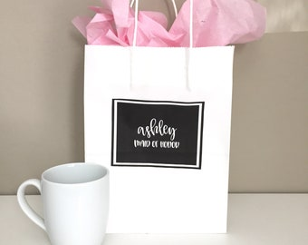 Custom Name Gift Bags | Personalized | Bridesmaid gift bag | Custom gift bag | Wedding gift bag | Discount for Multiple