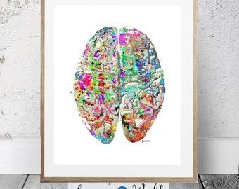 Brain Art, Vintage Anatomy Print, Brain Printable, Brian,Anatomy Print,Medical Art,Digital Medical Illustrations, Brain Surgeon,Doctor Gift
