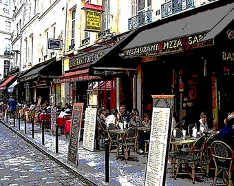 Art Print of a French Cafe