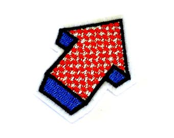 Arrow Iron on Patch, Arrow Patch, Blue and Red Arrow Patch, Pointer Patch