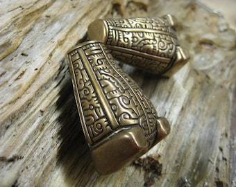 bear or boar headed brooch- viking era. set of 2