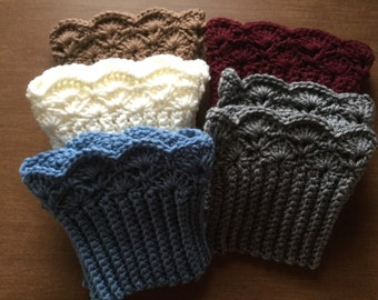 Scalloped Edge Boot Cuffs