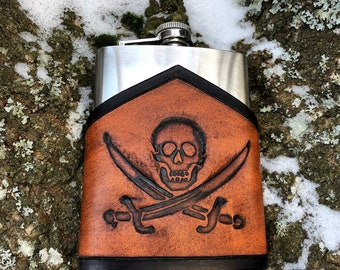 Jolly Roger hip-flask
