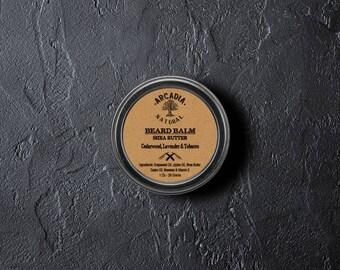 Handmade Natural Beard Balm, Men's skin care, Beard Moisturizer, Bear Conditioner, Beard styling with cedarwood beard balm
