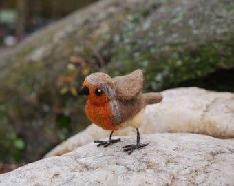 Needle Felted European Robin