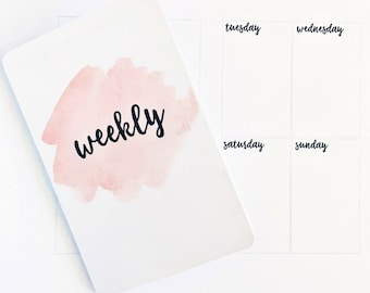 Undated Weekly PERSONAL TN Printable Insert WO2P