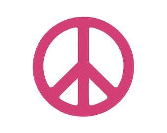 10 SIZES!!! Simple Peace Embroidery Machine Design ***Includes MINI sizes!!!***