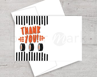 Sushi Birthday Party, Thank You Note, Thank You Card, Japanese Party, Adult Party, Sushi Making Party, Sushi Roll, Dinner Party