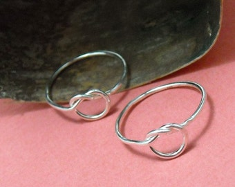 Sterling Friendship Rings Love Me Knot - Free Shipping, sterling ring, silver ring, silver stacking ring