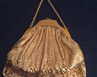 Whiting & Davis Gold Mesh Purse