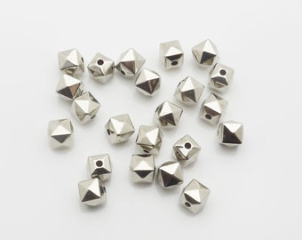 6mm 600pieces Lot Silver Plated CCB Spacer Bead 1564 -