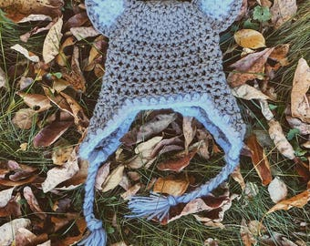 Chunky Wolf Hat Baby Toddler