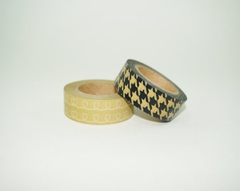 Destash Washi Tape, Houndstooth Washi, Houndstooth Pattern, Squiggles Pattern, Swirls Pattern, Shepherd's Check Pattern, Sale Washi Tape