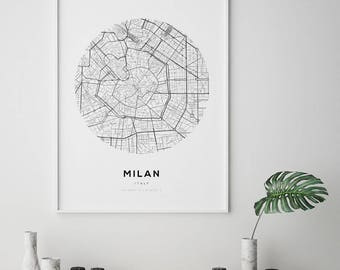 New york city map ny map art modern minimalist nyc map milan city map milan city map art street map poster fashion wall art publicscrutiny Images