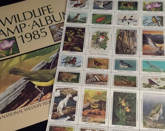 National Wildlife Federation Wildlife Stamp Album 1985, w/MINT Stamp Sheet