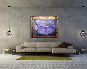 Kind of MisQue. Acrylic painting black hole 100 x 80 cm