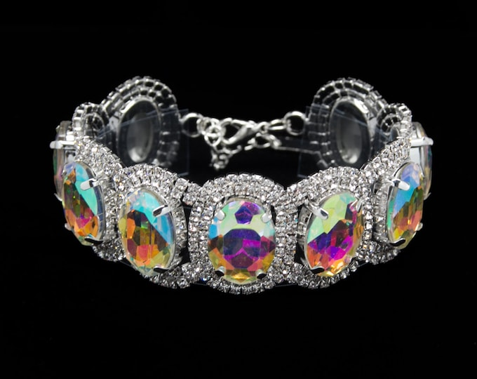 Isabella AB Crystal Competition Bracelet for IFBB and NPC Bikini Fitness Bodybuilding Contests
