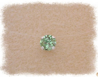Necklace green Peridot Ras thread Nylon & Swarovski Crystal neck
