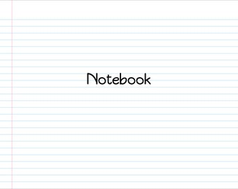 Notebook PowerPoint Background Template