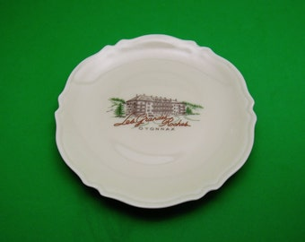 Porcelain Tip Tray - made in Limoges - Hotel Restaurant Les Grandes Roches Oyonnax Paris France - vintage collectible