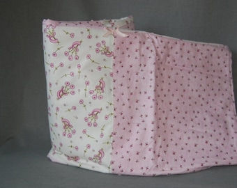 Wrapped ~ Pink floral hearts and flowers crib blanket