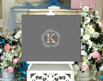 Wedding Guest book Monogram Wedding GuestBook CANVAS Wedding Guest Book Canvas Guest book Alternative Wedding Guestbook Wedding Gift