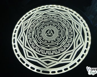 Wall Lamp inspired in the Mirror of Twilight from The Legend of Zelda: Twilight Princess