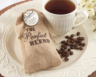 Set of 12- The Perfect Blend Burlap Bag