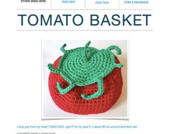Tomato Basket Pattern (Digital PDF File)