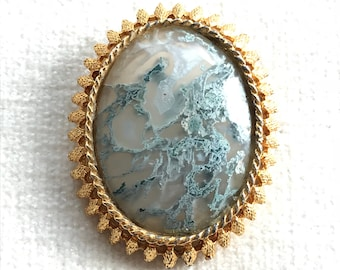 Sea sediement pendant brooch