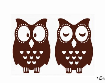 cool owls fusible applique
