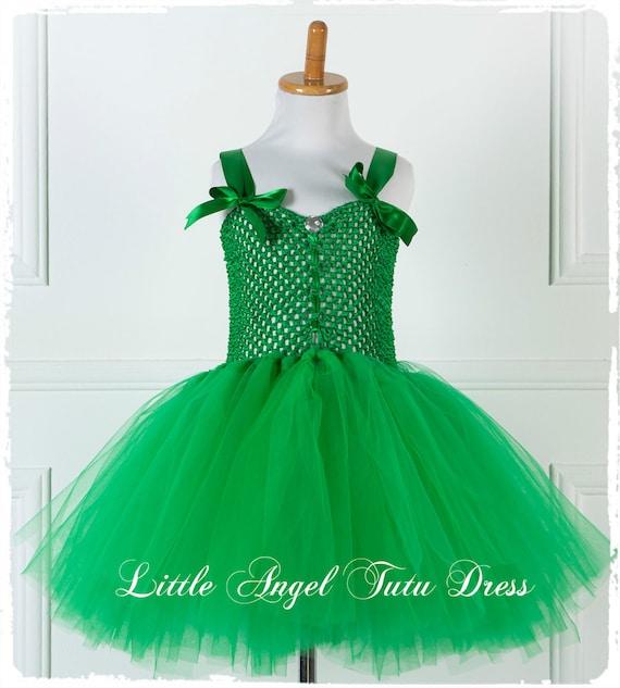 Tinkerbell Fairy Dress. Fancy Dress Costume. Handmade Tutu