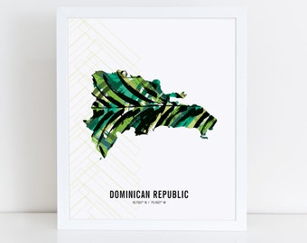 Dominican Republic Map Poster