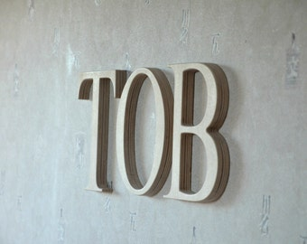 9'' Wall Wood Letters, Unfinished Baby Nursery Letters, Custom Wood Home Decor, Wedding Decor, Wood Wall Decor