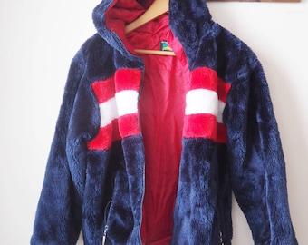 Vintage Polo club fake fur jacket - 90's